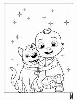 Coloring Cocomelon Pages Character Popular sketch template