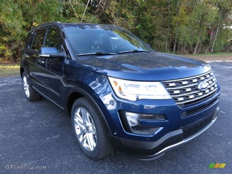 2016 Blue Jeans Metallic Ford Explorer Limited #108728685