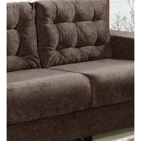 sofá suede amassado sof 225 3 lugares revestido em tecido suede amassado marrom