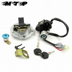 6 Wires Ignition Switch Seat Lock Gas Cover Key Set For