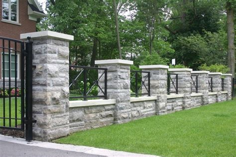 awesome masonry fence  retaining wall blocks bricks