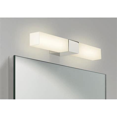Square Opal Glass Over Bathroom Mirror Light, Ip44 And