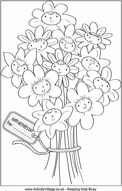 Mothers Coloring Crafts Mother Printable Pages Craft