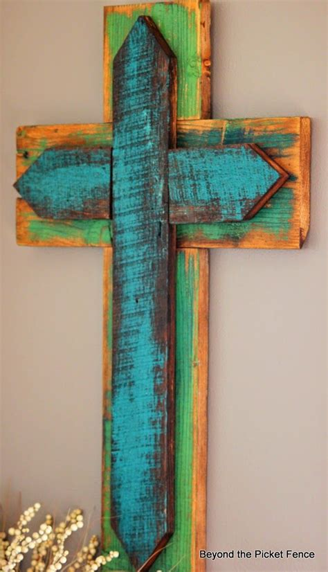 reclaimed wood cross httpbec beyondthepicketfence