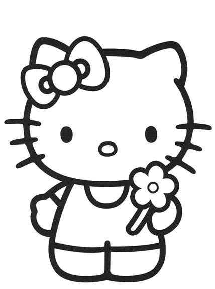 I have download Hello Kitty Holding A Flower Coloring Page