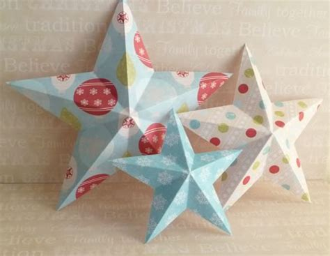 decorations easy 3d baubles and more - 3d Star Decorations