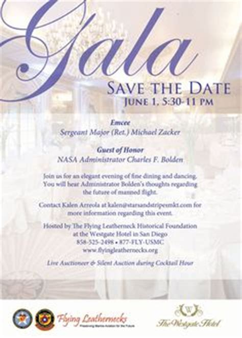 spring gala save  date postcard  christie