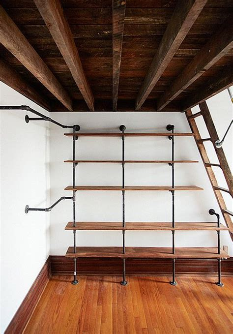 Open Closet Shelves by This Is A Neat Combination Of Shelving And Hanging Space