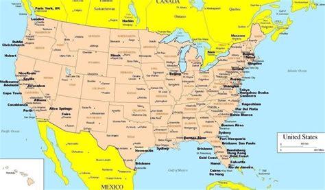 map  usa  canada travelquazcom