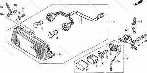 Honda Motorcycle 1995 Oem Parts Diagram For Taillight
