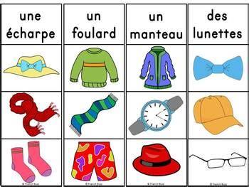les vetements jeu dassociation images french