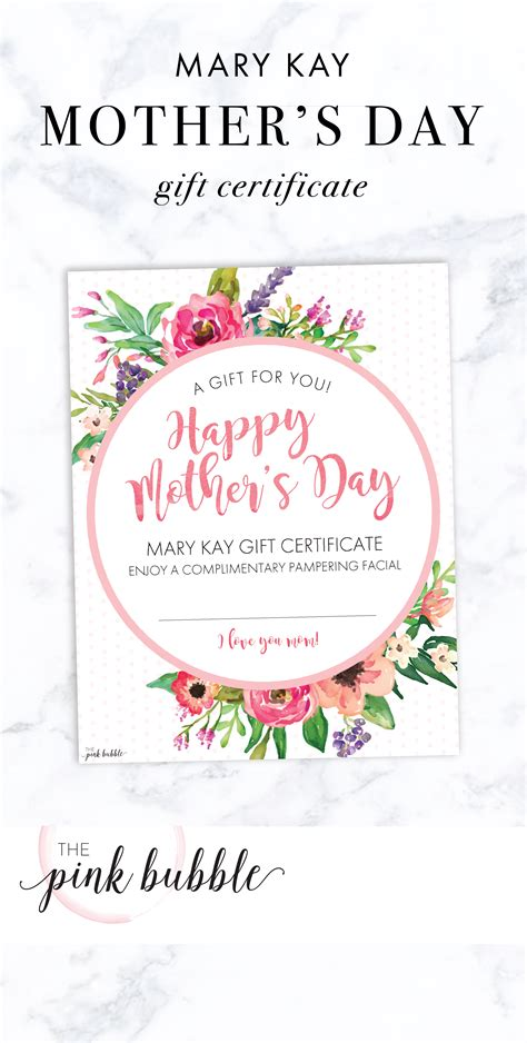 mary kay mothers day gift certificate find