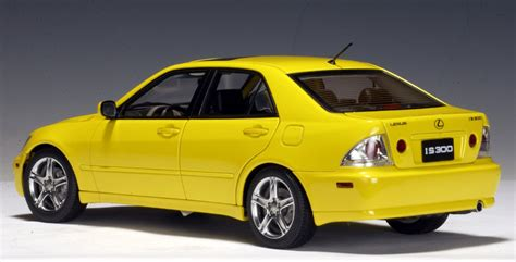 lexus yellow autoart 2000 lexus is300 yellow lhd 78701 in 1 18