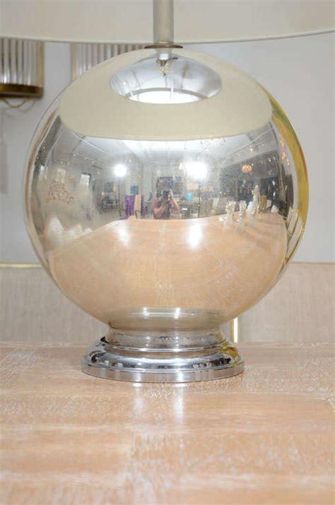 glass globe table l vintage mercury glass globe table l at 1stdibs