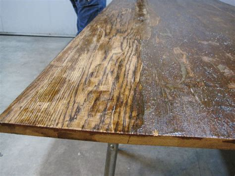 sanding and staining wood table table top progress surface solutions and stripping