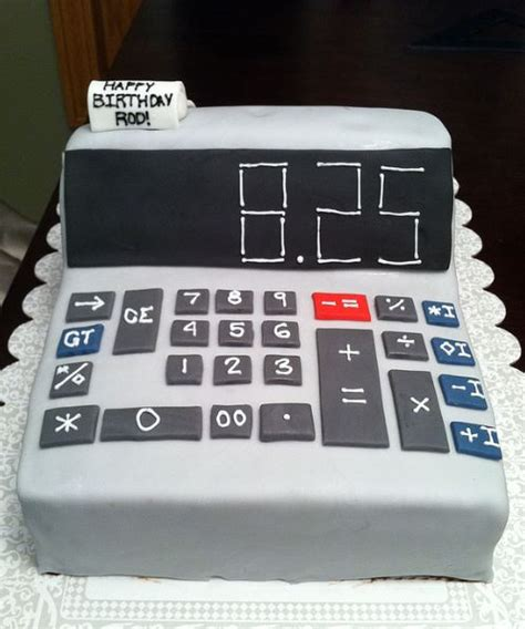 calculator birthday cake  happy birthday message