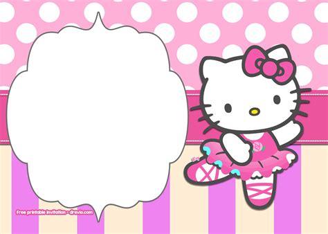 kitty birthday invitation templates bagvania