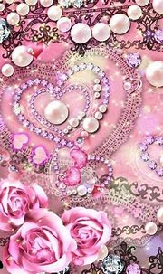 Pearls and hearts | Iphone wallpaper, Heart wallpaper ...