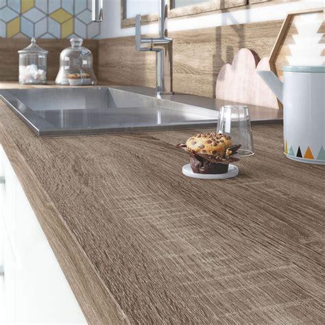 plan de travail pour cuisine exterieure plan de travail stratifié effet chêne havane mat l 315 x p 65 cm ep 38 mm leroy merlin