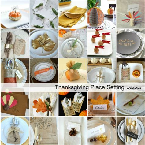 thanksgiving place settings  idea room