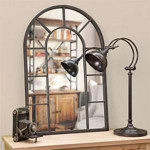 les 25 meilleures idees de la categorie miroir industriel With superb maison du monde petit meuble 2 miroir effet industriel