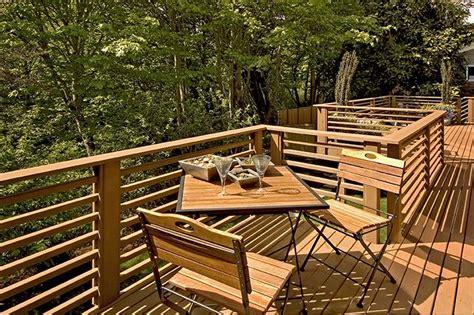 back deck with horizontal railing yard pinterest