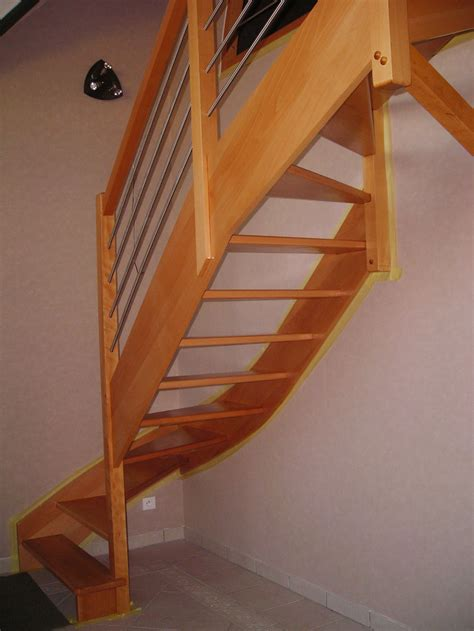 escalier bois re bois inox