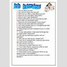Job Interview  Esl Worksheet By Sumerce