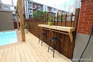 Bar Exterieur En Bois : terrasse en bois autour d 39 une piscine fibro patios en bois ~ Premium-room.com Idées de Décoration