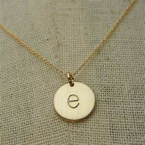 gold letter necklace gold initial necklace letter charm With letter chain necklace