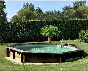 Liner Piscine Octogonale : piscine hors sol en bois octogonale castorama ~ Melissatoandfro.com Idées de Décoration