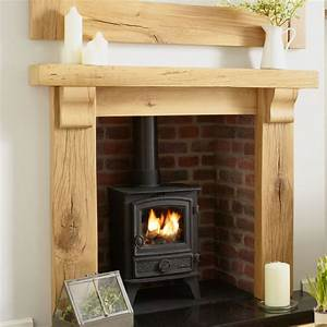 OAK FIRE SURROUND oxford SOLID FRENCH RUSTIC BEAM