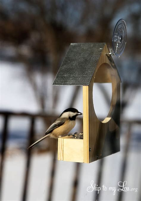 diy wooden bird feeder skip   lou