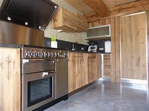 ecrin de bois creation conception et amenagement en vieux With cuisine en vieux bois
