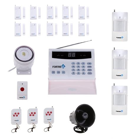 home security system wireless fortress security store s02 b wireless home security alarm