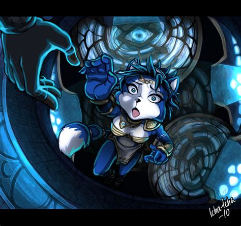 Krystal Falling Colored By Icha Icha On Deviantart
