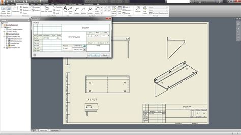creating drawings autodesk inventor tutorials youtube
