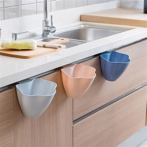 kitchen dustbin cabinet kitchen cabinet door hanging trash garbage bin can rubbish 1593