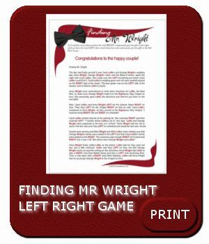 finding mr wright left right game left right shower game