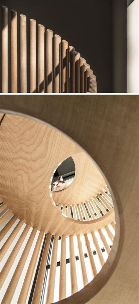 sculptural wood object    modern cat tree