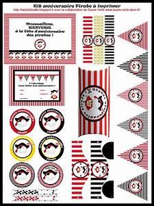 Deco Anniversaire Pirate : lady bidouille kit anniversaire pirate imprimer en fran ais banners and pennants ~ Melissatoandfro.com Idées de Décoration