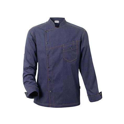 veste de cuisine veste de cuisine district bleue denim