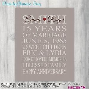 15 year anniversary gift print wedding anniversary With 15 year wedding anniversary gift