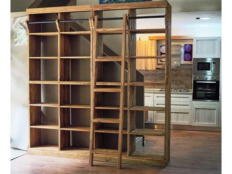 librerie noce libreria modulare in legno di noce suar