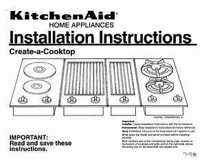Kitchenaid Cooktop 3182048 User Guide