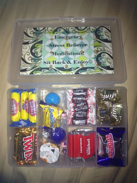 bosses day survival kit candy kit box  images
