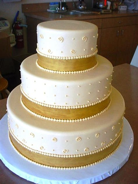gold ribbon for wedding cake piping buttercream dots real ribbons cakecentral 14806