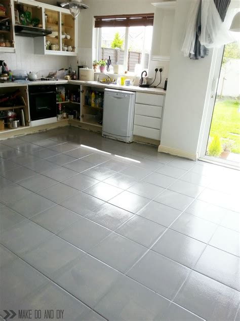 painting ceramic floor tiles in kitchen painted tile floor no really make do and diy 9055