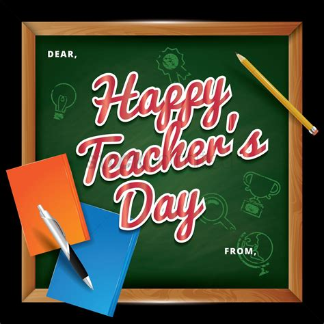 teachers day template design vector image