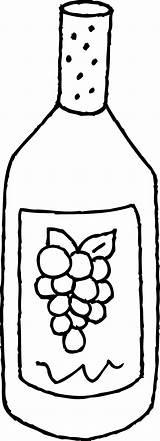 Wine Clipart Bottle Clip Bottles Vino Colorear Line Bebidas Mewarnai Colouring Coloring Outline Gambar Botella Gaseosas Libro Drawings Imagen Dinner sketch template